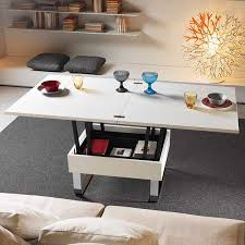 perfect coffee table dining combo round brown wooden custom sofa design idea black furnished two layer