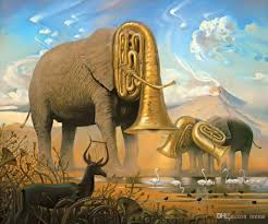 salvador dali s oil painting for bar elephants meaning hand painted high quality salvador dali paintings with 142 08 piece on reeme s