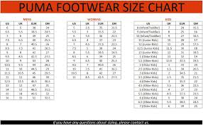 Puma Shoe Size Chart Puma Safety Shoes Size Chart Off 62 Www Lerocholivier Com