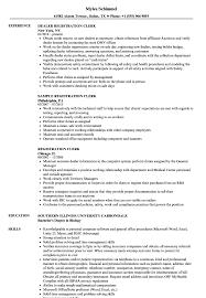 Registration Clerk Resume Samples Velvet Jobs