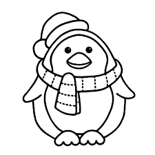 Small Picture Penguin With Scarft Coloring Pages Animal Coloring Pages on