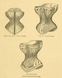 1877 victorian corsets red or white