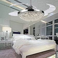 ceiling fan chandelier popular colorled crystal led fans light 42 inch transpa 4 throughout 21