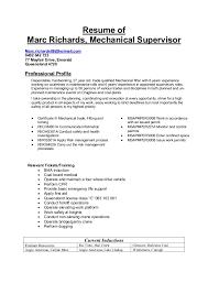 Maintenance Supervisor Resume Sample Property Maintenance