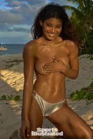 Danielle Herrington was photographed by Yu Tsai in Fiji. Swimsuit.