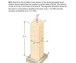 Determine the smallest cross section of the glued