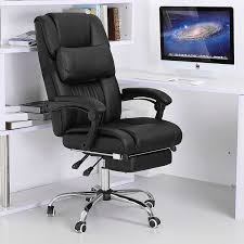 office recliner chair. Office-Chairs:Fully Reclining Office Chair Computer With Footrest Ergonomic Workstation Recliner