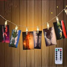 Track Lighting Clips Amazon Com 40 Led Photo Clips String Lights Christmas