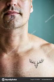 Detailní Záběr Tetování Hrudi Muže Stock Fotografie Rawpixel