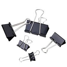 Paper Holder Clips Thee Binder Clips Office Paper Holder Assorted Sizes 72pcs Wantitall