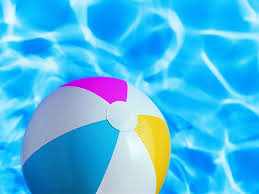 swimming pool beach ball background. Exellent Swimming Summer Signs  Iconic Still Life Leisure Beach Ball In Swimming  Pool In Swimming Pool Background S