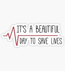 It\'s A Beautiful Day To Save Lives Quote Best of Greys Anatomy Stickers Anatomy Grays Anatomy And Films
