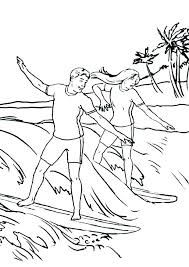Silver Surfer Coloring Pages Surfing Coloring Es Waves Silver Surfer