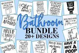 Files compatible with cricut, cameo silhouette studio! Funny Bathroom Svg Bundle With 20 Designs Note This Is A Digital File No Physical Product Will Be Sent To In 2020 Bathroom Quotes Funny Svg Quotes Bathroom Humor