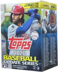 Some are cellos which contain more than one pack and some. Amazon Com 2020 Topps Update Blaster Box 7 Packs 14 Cards 1 Coin Card Collectibles Fine Art