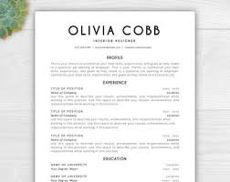 resume templaet resume resume template instant download by resumetemplatestudio