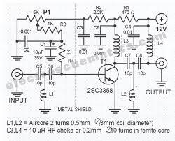 uhf antenna amplifier circuit uhf antenna amplifier circuit schematic
