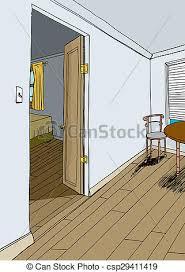 bedroom with open door csp29411419