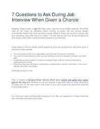 Questions To Ask On Work Experience Questions To Ask During The Interview