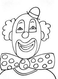 Coloriage Cirque Clown Tete Duilawyerlosangeles