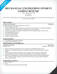 Resume Samples For Freshers Mechanical Engineers Format Free