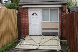 the illegal property had been concealed by a propped up garage door