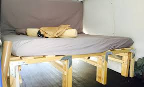 Van Conversion DIY Extending Slat Bed with a TON of Storage