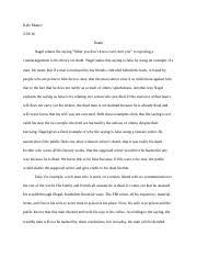week essay descartes meditation vi kyle makey descartes  1 pages week 6 essay nagel s death