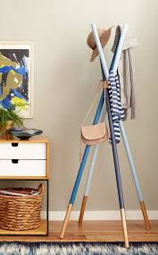 How To Make A Coat Rack Stand 100 DIYs to Try This Weekend Midcentury modern Diy coat rack and 2
