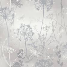 Damselfly Silver Wallpaper