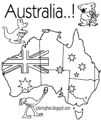 Australia Colouring In With Australia Coloring Pages Free Coloring