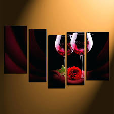 rose wall decor 5 piece large canvas red rose group canvas wall art home paper rose rose wall decor wall art romantic red