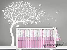 nursery wall decals white tree wall