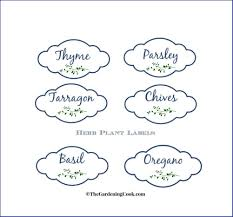 printable labels for mason jars free herb plant labels for mason jars and pots the gardening cook