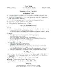 Pizza Cook Resume Sample Resume Sample For Cook Cook Resume Prep