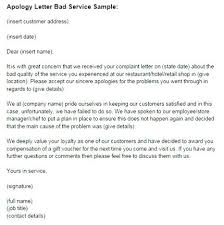 Apology Letter Sample To Boss Interesting Apology Letter Poor Customer Service I Accept Your For Bad