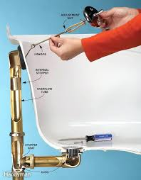 tub drain and overflow plate installation levered stopper removal