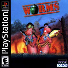 sony playstation 1 games. screenshot thumbnail / media file 1 for worms (e) sony playstation games 5