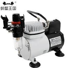 mini air compressor 220v portable piston silent compressor for airbrush spray painting pump diy model car coloring tools in teaching resources from office