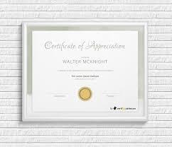 Certificate Of Appreciate Elegant Certificate Of Appreciation