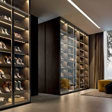 contemporary shoe rack glass aluminum by rodolfo dordoni fitted
