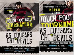Touch Football Tournament Flyer Template - Flyerheroes