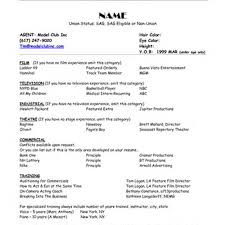 Modeling Resume Template Delectable Modeling Resume Tem Fabulous Model Resume Template Sample Resume