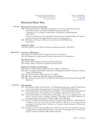 How To Write A Curriculum Vitae