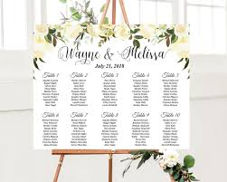 Greenery Seating Chart In 2019 Seating Chart Wedding