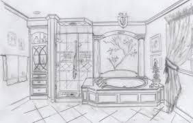 Wonderful Bathroom Interior Design Sketches Sketch T Inside Inspiration Decorating