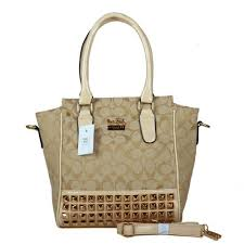 Coach Legacy Tanner In Studded Signature Small Khaki Crossbody Bags BNO