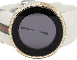 gucci 1142. i-gucci digital white rose finish diamond watch 4.0 ct ya114214 wtch-32284- gucci 1142