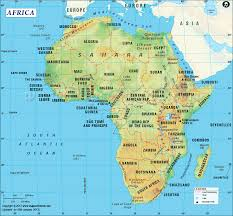 africa map printable and detailed map of africa