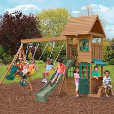 Ashberry Wood Gymset By Big Backyard Toys R Us  825 Dimensions Big Backyard Ashberry Wood Swing Set